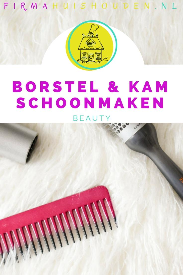 Haarborstels en kammen schoonmaken