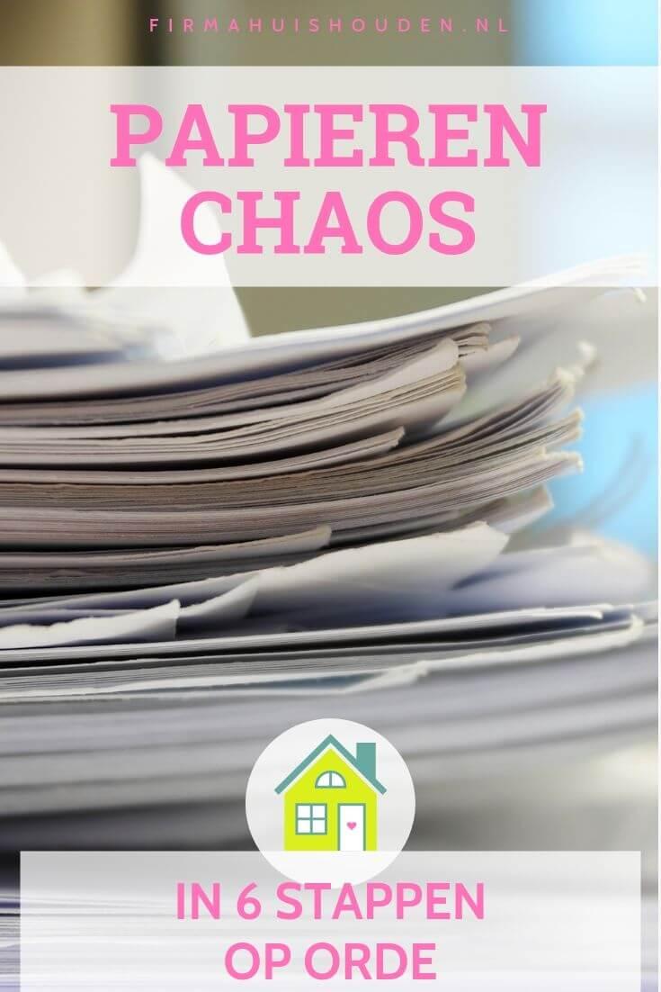 Papieren chaos, stapel papieren