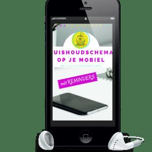 Huishoudschema op je mobiel, inclusief reminders