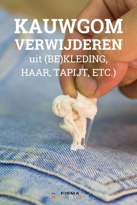Vlekken ABC | Kauwgom verwijderen - kauwgom verwijderen