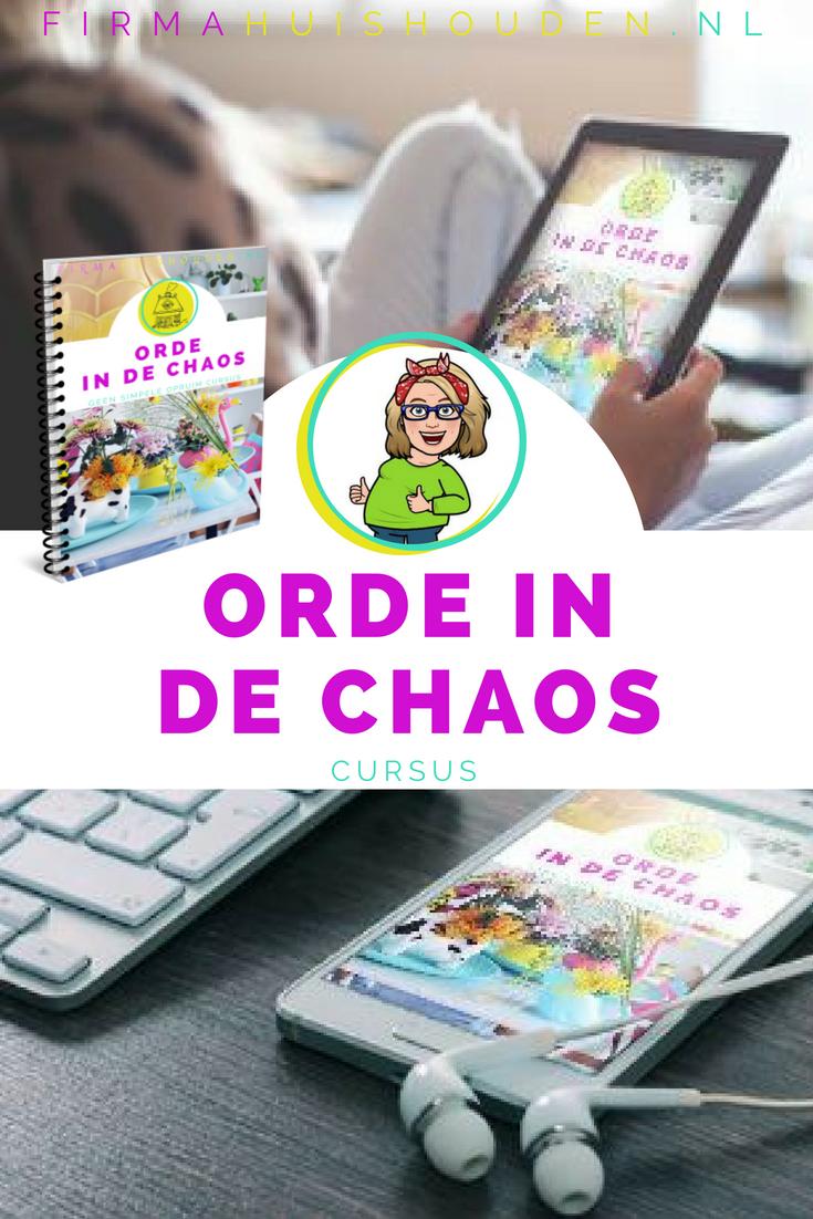 Orde in de Chaos - 10-daagse cursus van Firma Huishouden