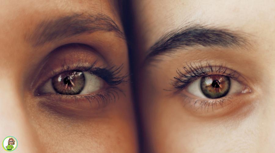 Ogen van twee gezichten naast elkaar