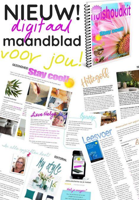 Huishoudkit en Huishoudschema augustus 2018 | printable