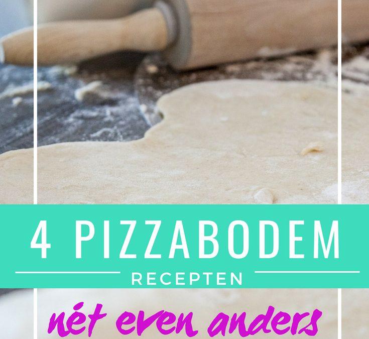 4 Pizzabodem recepten, net even anders