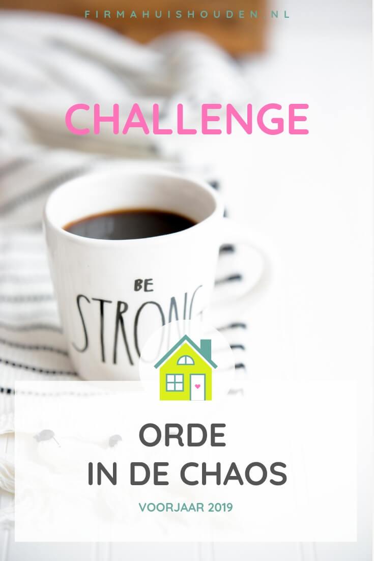 Challenge Orde in de Chaos voorjaar 2019