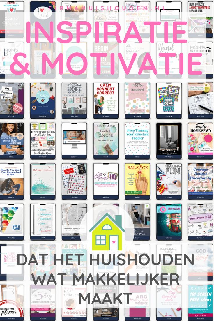 Inspiratie en motivatie voor het huishouden UHOMB2019