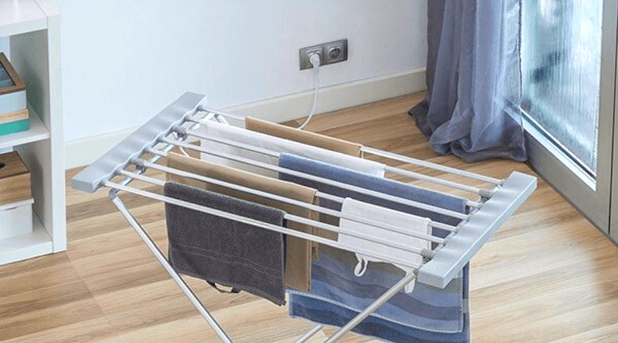 Dit praktische, elektrische kledingrek droogt je kleding snel, neemt weinig ruimte in beslag als je het inklapt en is makkelijk in gebruik. Ideaal voor regenachtige of vochtige dagen. 6 Ultieme tips voor het wassen en drogen.