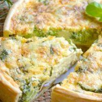 Hartige taart met broccoli en zalm recept