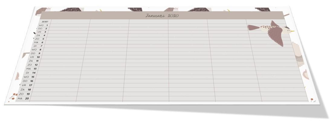 HUISHOUDPLANNER en GEZINSKALENDER 2020 nu te bestellen! - huishoudplanner en gezinskalender