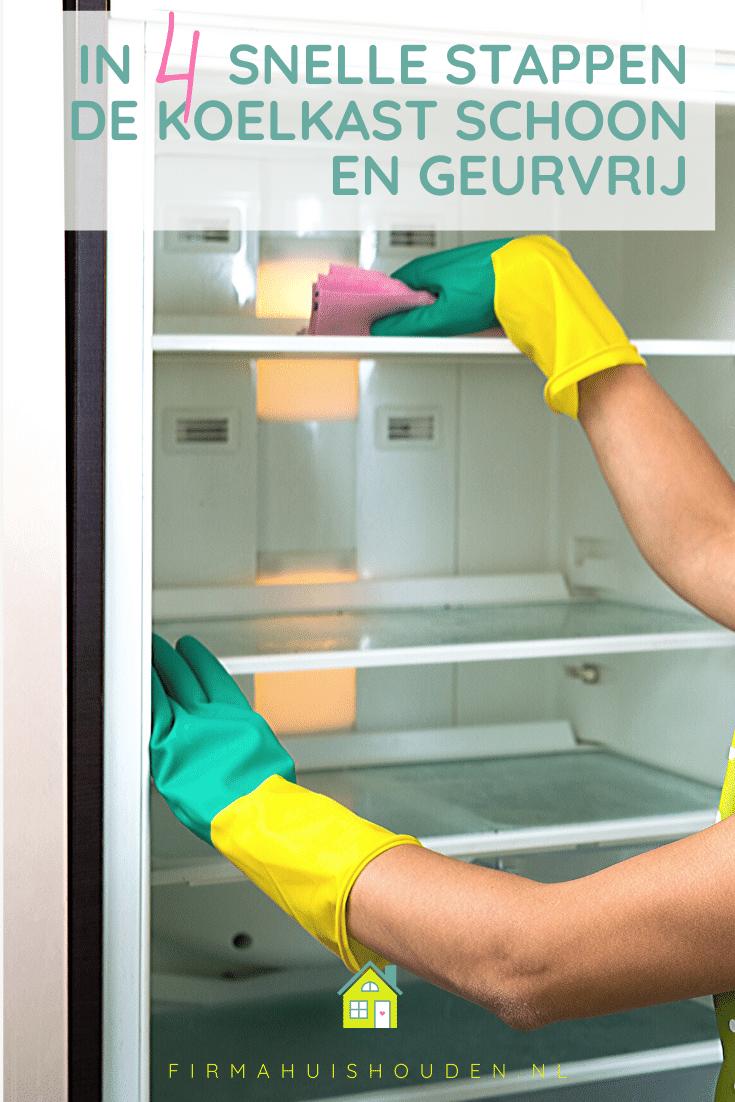 In 4 snelle stappen de koelkast schoon en geurvrij