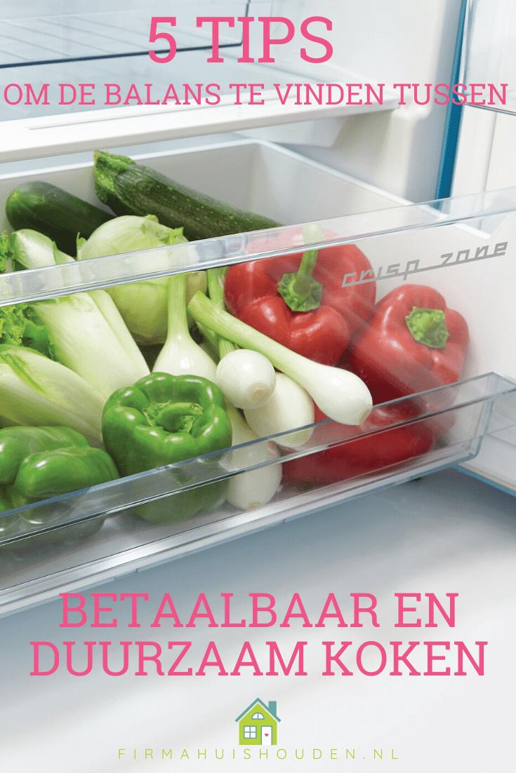 Pin afbeelding bij: betaalbaar en duurzaam koken