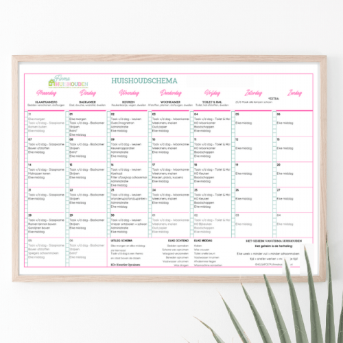 Huishoudschema standaard (2)