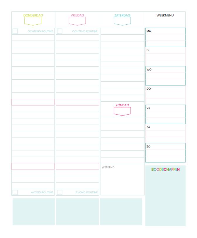 Huishoudplanner® -