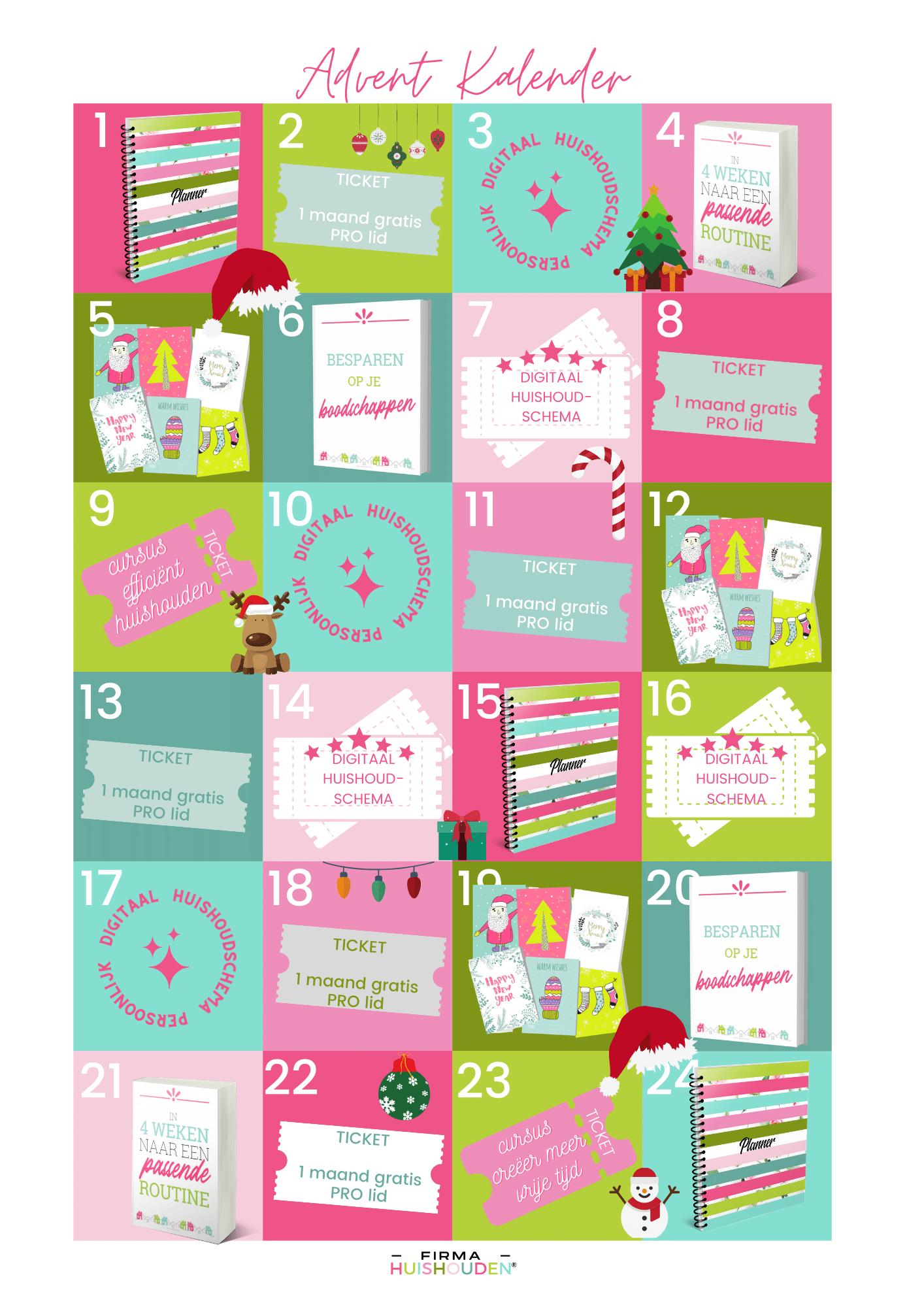 Adventskalender met 24 prijzen speciaal voor jou! -
