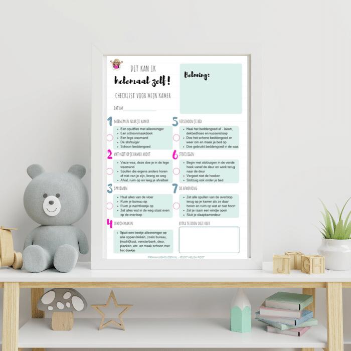 Checklist kinderkamer opruimen -