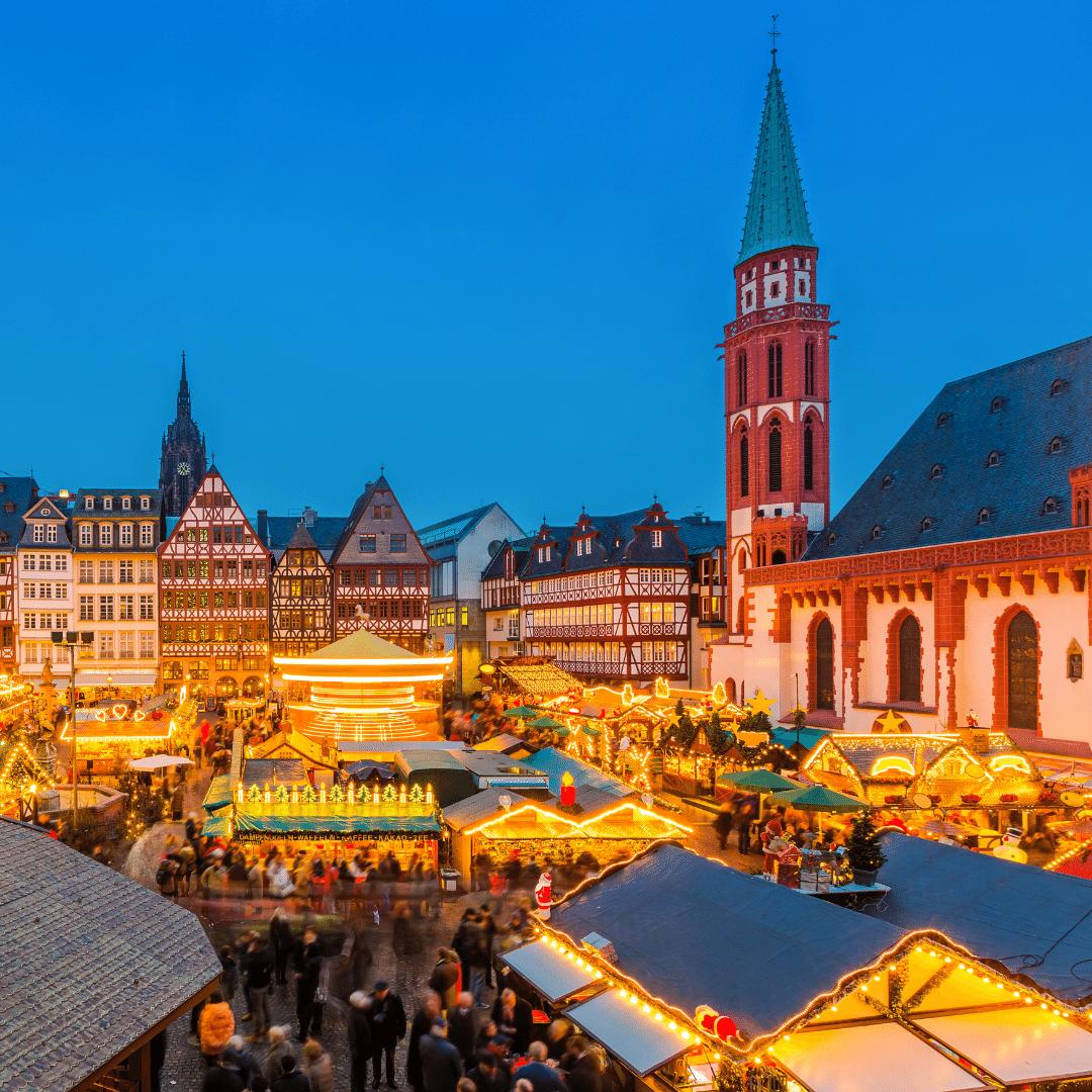 Kerstsfeer in Frankfurt