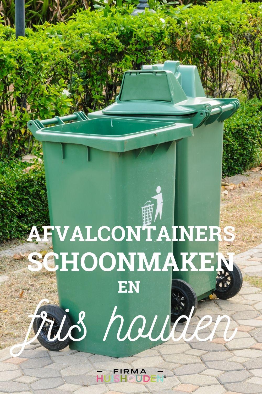 Afvalcontainers schoonmaken